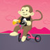 Tricycle Monkey art print