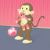Teddy Bear Hug Monkey art print